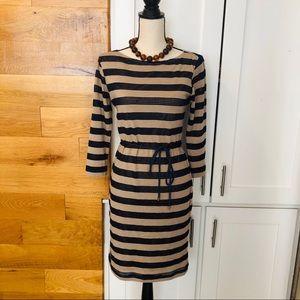 Sharagano Striped Midi Dress